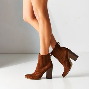 New Dolce Vita Booties Beautiful Chestnut Suede, 6
